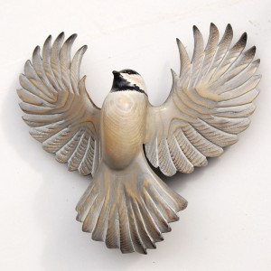 Chickadee.flying.woodcarving