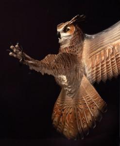 great-horned-owl-wood sculpture-jason-tennant